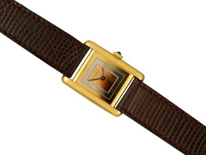 Cartier Cartier Vintage Ladies Tank Mechanical Trinity Dial Watch - Gold Verme
