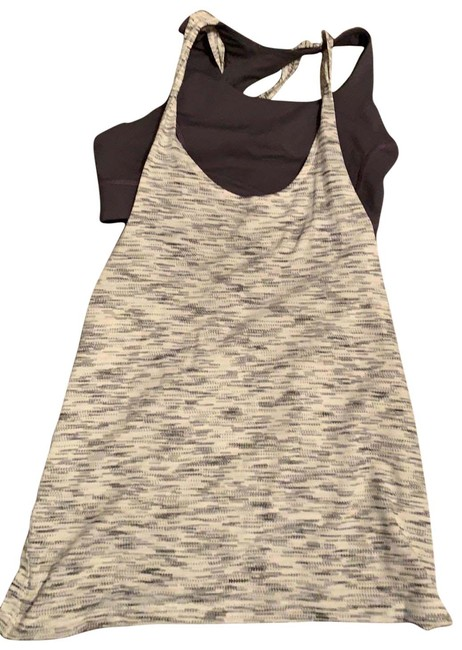Lululemon White and Gray Activewear Top Size 6 (S) Lululemon White and Gray Activewear Top Size 6 (S) Image 1