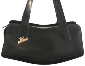 Cromia Satchel in black and sliver