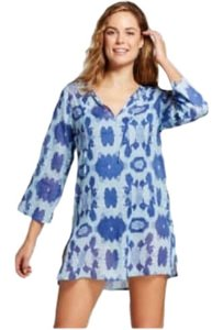 Target Hillary Blue Beach Tunic Cover Up Sz M