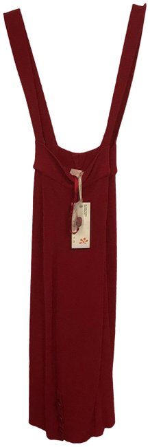 Tulle Red Sleeveless Button Mid-length Short Casual Dress Size 6 (S) Tulle Red Sleeveless Button Mid-length Short Casual Dress Size 6 (S) Image 1