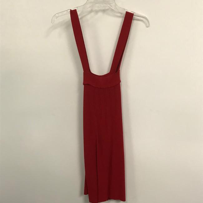 Tulle Red Sleeveless Button Mid-length Short Casual Dress Size 6 (S) Tulle Red Sleeveless Button Mid-length Short Casual Dress Size 6 (S) Image 2
