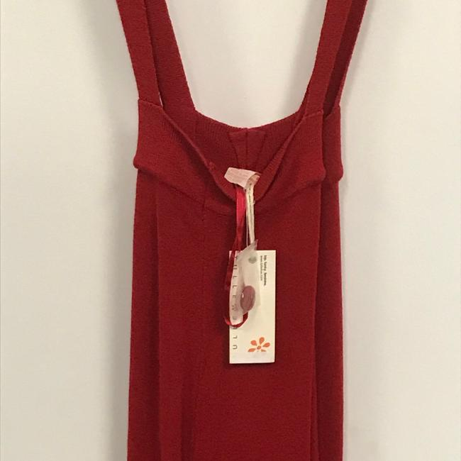 Tulle Red Sleeveless Button Mid-length Short Casual Dress Size 6 (S) Tulle Red Sleeveless Button Mid-length Short Casual Dress Size 6 (S) Image 3