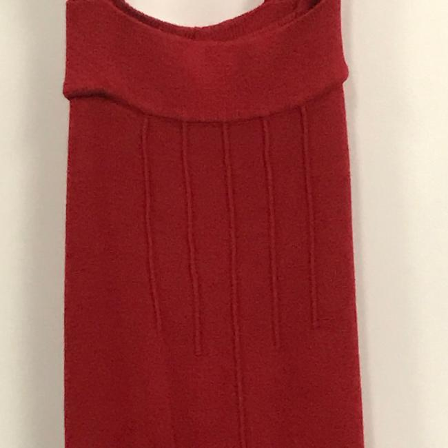 Tulle Red Sleeveless Button Mid-length Short Casual Dress Size 6 (S) Tulle Red Sleeveless Button Mid-length Short Casual Dress Size 6 (S) Image 4