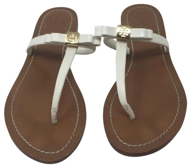 Item - White Leighanne Bow Sandals Size US 7 Regular (M, B)