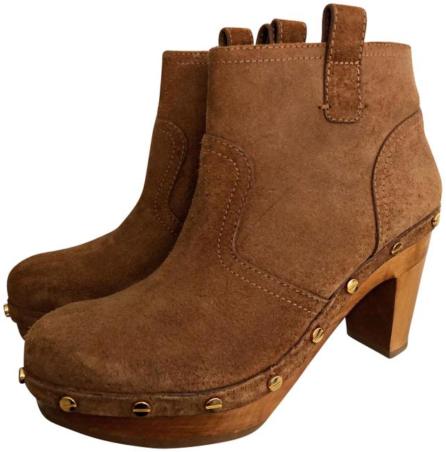 Tory Burch Brown Suede Ankle Sz. Boots/Booties Size EU 37.5 (Approx. US 7.5) Regular (M, B) Tory Burch Brown Suede Ankle Sz. Boots/Booties Size EU 37.5 (Approx. US 7.5) Regular (M, B) Image 1