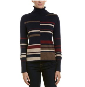ecru Striped Dryclean Only Sweater