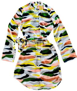 Equipment short dress Multicolor on Tradesy