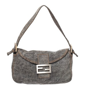 Fendi Denim Nylon Shoulder Bag