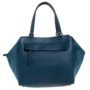 Fendi Suede Leather Satchel in Blue