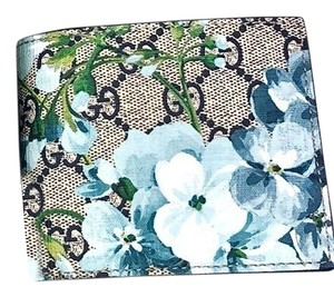 Gucci New GUCCI Card Case Supreme Bloom Place Blue Navy