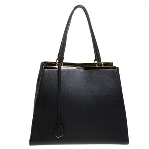 Fendi Suede Leather Tote in Black