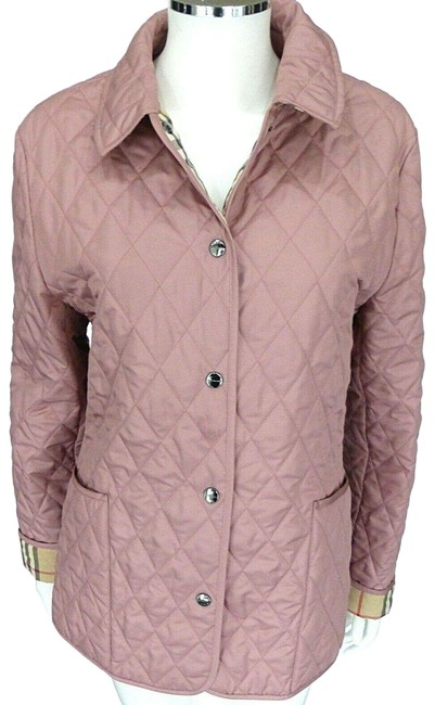 Item - Pink Quilted Coat M Nova Check Lining Jacket Size 8 (M)