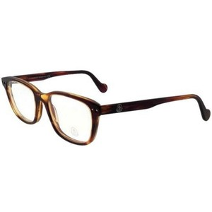 Moncler ML5015-047-53 Square Men's Havana Frame Clear Lens Genuine Eyeglasses