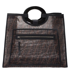 Fendi Mesh Shopper Tote in Brown