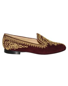 Christian Louboutin Suede Leather BROWN PRINT Flats