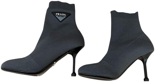 Prada Gray 2019 Miuccia Knit Ankle Sz. (New) Boots/Booties Size EU 38.5 (Approx. US 8.5) Regular (M, B) Prada Gray 2019 Miuccia Knit Ankle Sz. (New) Boots/Booties Size EU 38.5 (Approx. US 8.5) Regular (M, B) Image 1