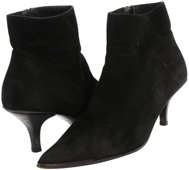Item - Black Suede Ankle Boots/Booties Size US 7.5 Narrow (Aa, N)
