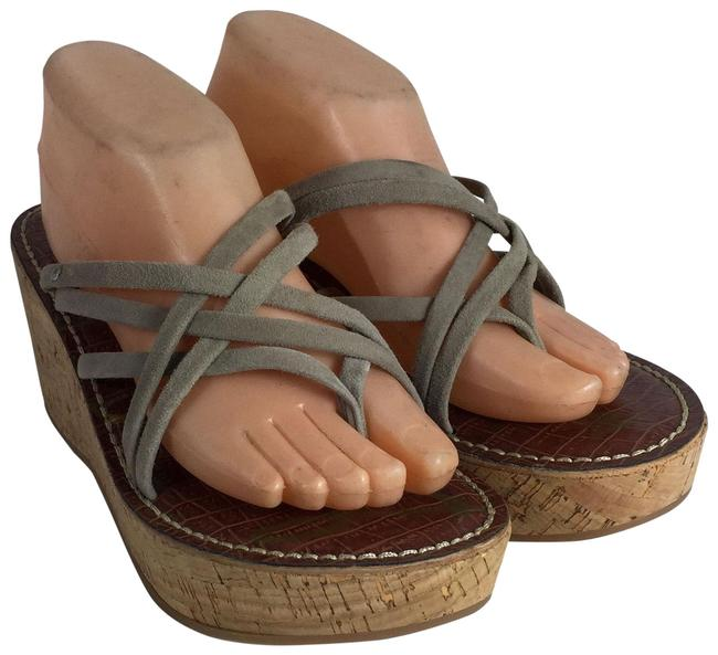 Item - Brown Multi Straps Suede Leather Wedge Sandals Size US 10 Regular (M, B)