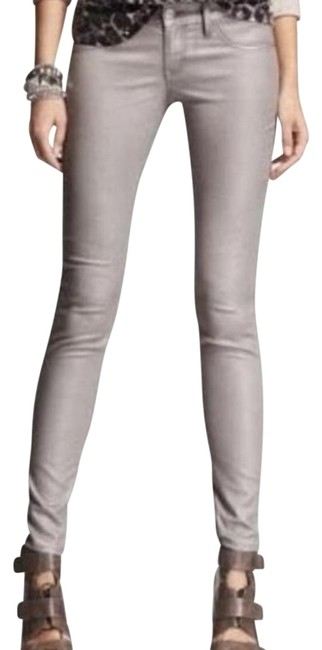 Item - Silver Coated Stella Skinny Jeans Size 24 (0, XS)
