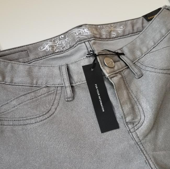 Express Silver Coated Stella Skinny Jeans Size 24 (0, XS) Express Silver Coated Stella Skinny Jeans Size 24 (0, XS) Image 4