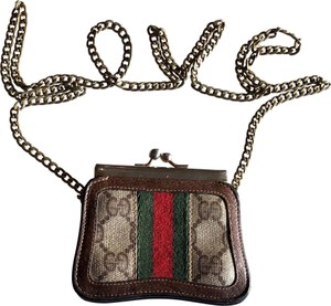 Gucci Web Ophedia Vintage Gg Coin Cross Body Bag