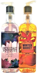 Bath and Body Works BATH & BODY WORKS MERRY MANGO & HOLIDAY BOUQUET OLIVE OIL HAND SOAP 2X