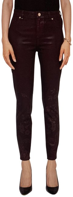 Item - Oxblood Red Coated Aymmee Kyoto Gardens Skinny Jeans Size 25 (2, XS)