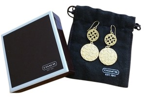 Coach COACH Logo Earrings - Circles - Gold Tone