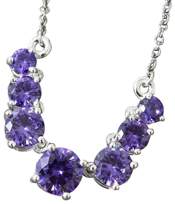 Purple Simulated Diamond (18-20 In) In Stainless Steel & Ster Necklace Purple Simulated Diamond (18-20 In) In Stainless Steel & Ster Necklace Image 1