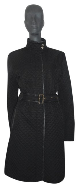 Item - Black/White W Quilted Womens Diamond Trench W/Novacheck Lining M 47 Jacket Size 8 (M)