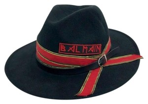 Balmain x H&M H&M x Balmain Custom Black Red Gold Wide Brim Hat