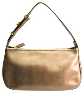 Salvatore Ferragamo Satchel in Metallic beige