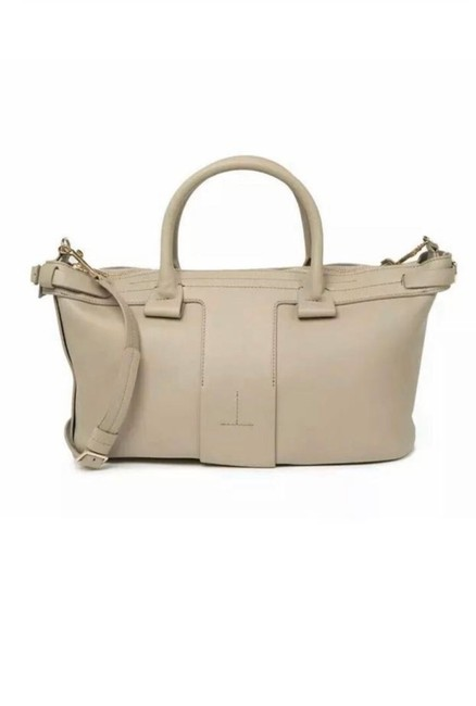 Item - New T Bar Light Grey Calf Leather Satchel