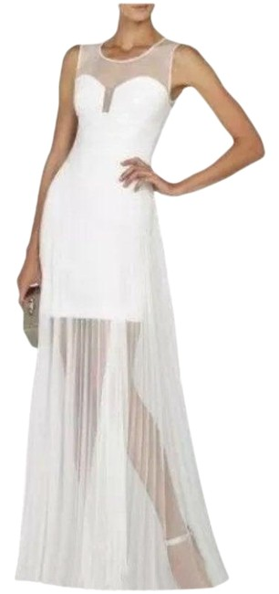 Item - White Bcbg Max Azria Womens Alai Ivory Xxs Long Casual Maxi Dress Size 00 (XXS)