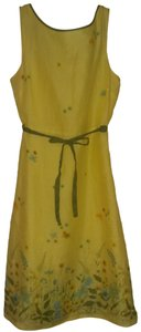 Odille short dress Yellow floral on Tradesy