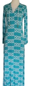 Teal Maxi Dress by Macbeth Collection