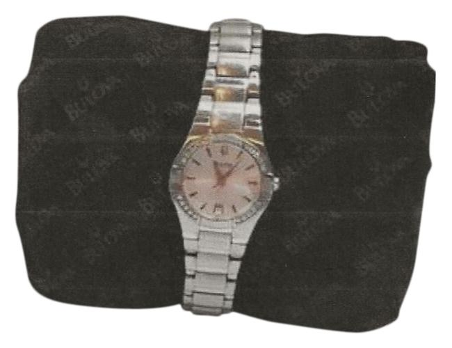 """Bulova Very Light Pink Face 6 1/4"""" Wrist Size. Comes with Additional Links To Increase Size. Watch Bulova Very Light Pink Face 6 1/4"""" Wrist Size. Comes with Additional Links To Increase Size. Watch Image 1"""