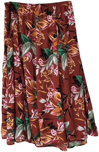 Item - Multicolor Tropical Printed Madder Root Skirt Size 22 (Plus 2x)