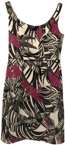 Trina Turk short dress Black White Hot Pink Floral Sleeveless on Tradesy