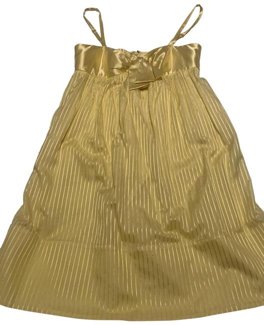 Item - Yellow Short Cocktail Dress Size 6 (S)