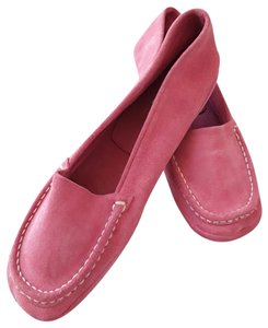Barneys New York Upper Suede Leather Comfortable Made In Italy coral Flats