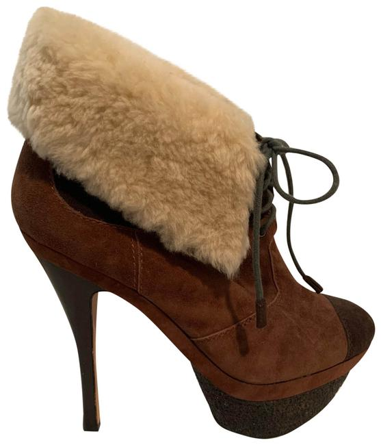 Item - Brown Suede Platform Ankle with Shearling Cuff Boots/Booties Size US 8.5 Regular (M, B)