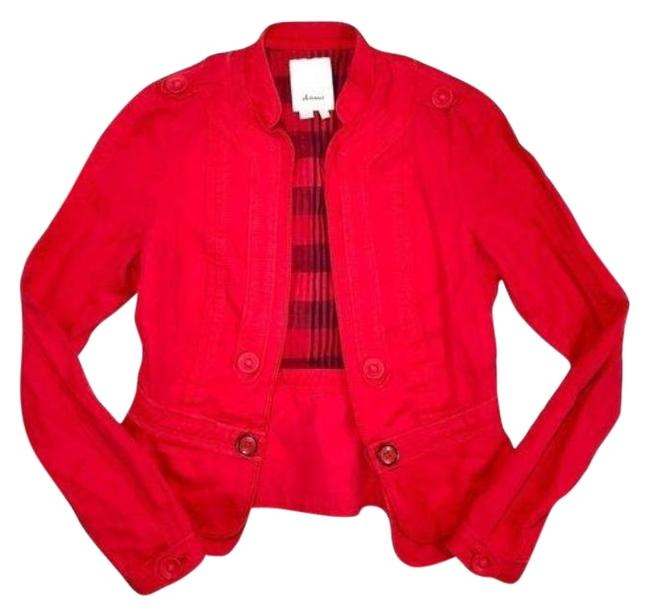 Item - Red Elevenses Fitted Jacket Blazer Size 2 (XS)