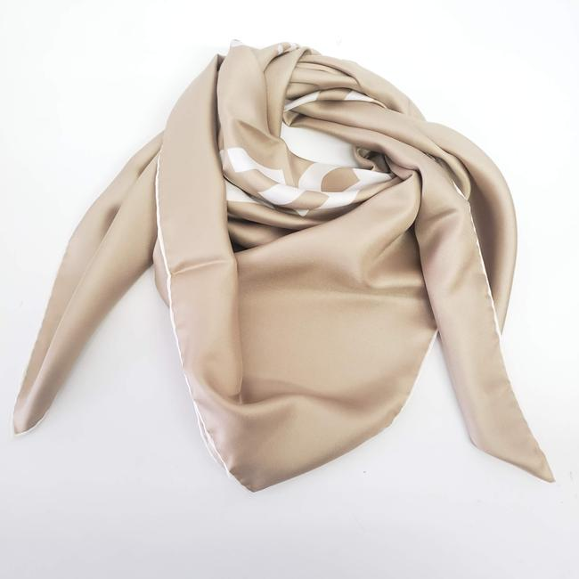 Item - Beige Square Silk Shawl - Scarf/Wrap