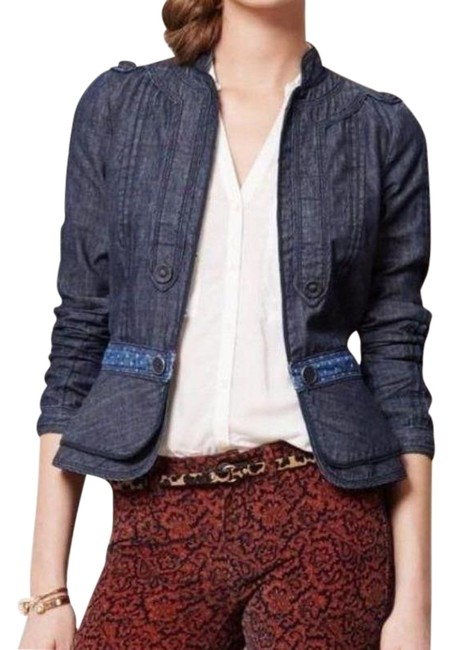 Item - Blue Elevenses Jean Fitted Jacket Size 2 (XS)