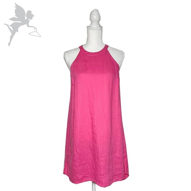 Item - Pink Linen Halter Short Casual Dress Size 4 (S)