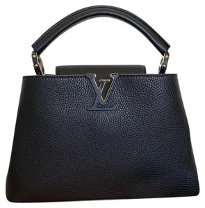 Louis Vuitton Tote in Black w Silver Hardware