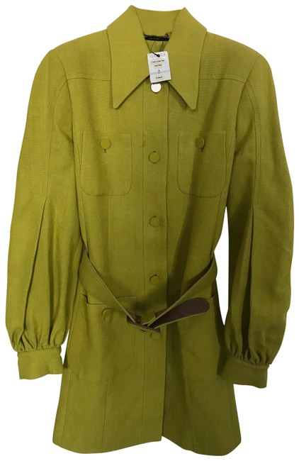 Item - Lime Yellow Belted Dress 313984 Coat Size 6 (S)