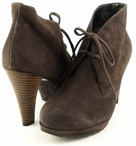 Paul Green Comfortable Casual Lace Up Ankle Brown Terra Boots